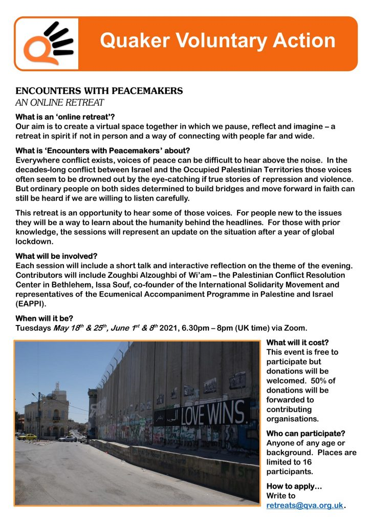 Encounters with Peacemakers flyer